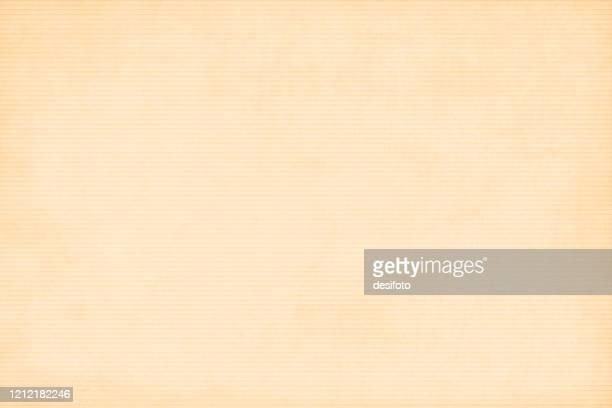 illustrazioni stock, clip art, cartoni animati e icone di tendenza di sfondo di colore beige simile a un foglio di carta ondulato testurti con strisce orizzontali. - carta da pacchi