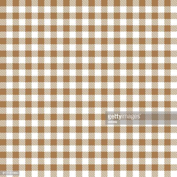 beige gingham cloth fabric pattern - scottish tweed stock illustrations, clip art, cartoons, & icons