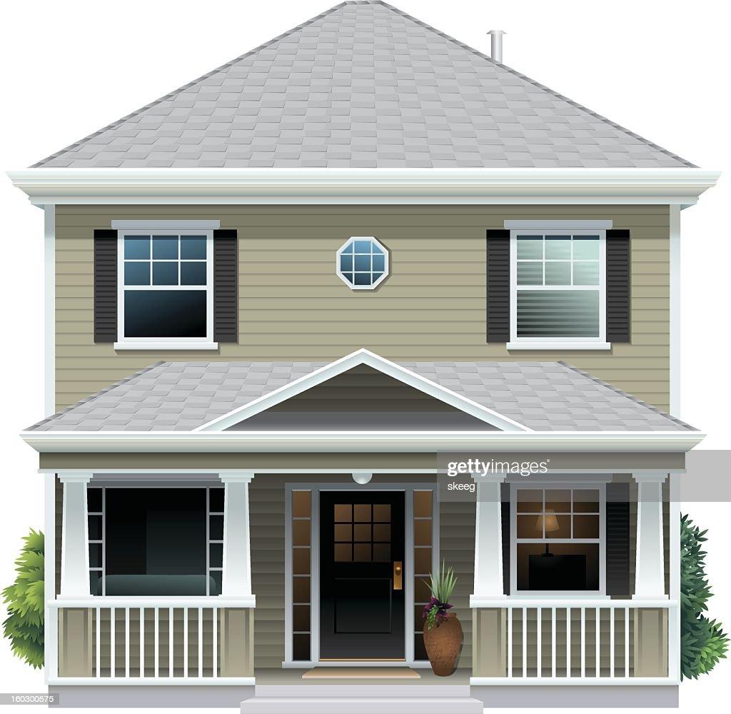 Beige House : Vektorgrafik
