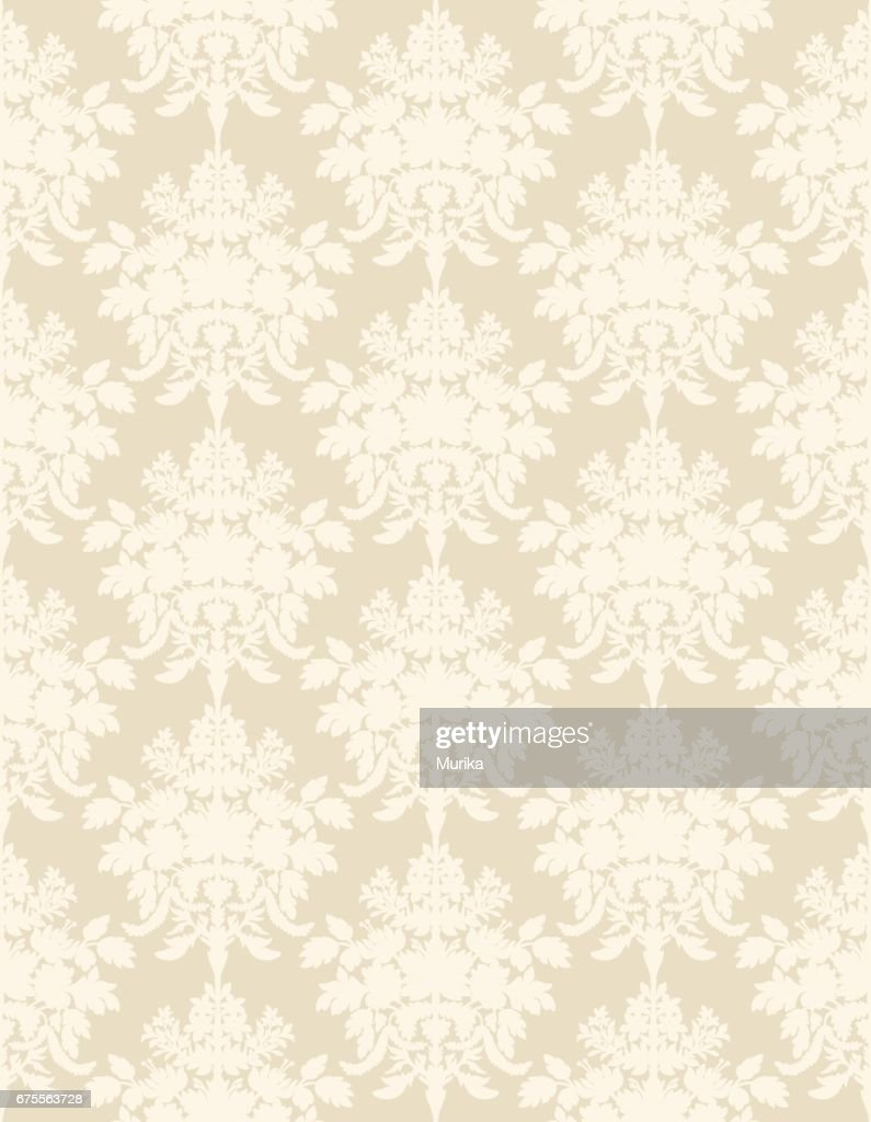 Beige retro seamless wallpaper background.