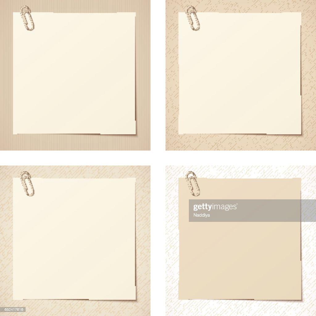 Beige rustic blank cards. Vector eps-10.