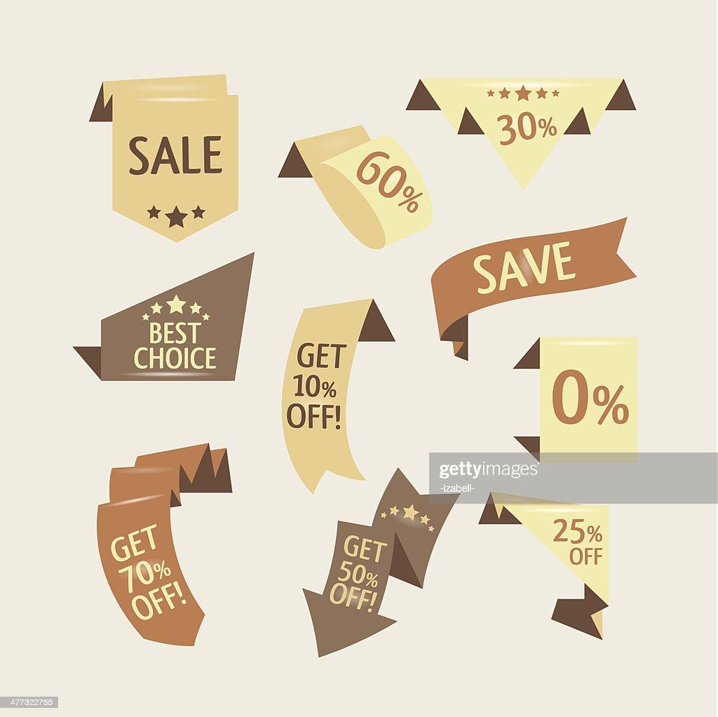 Beige shopping flat ribbons