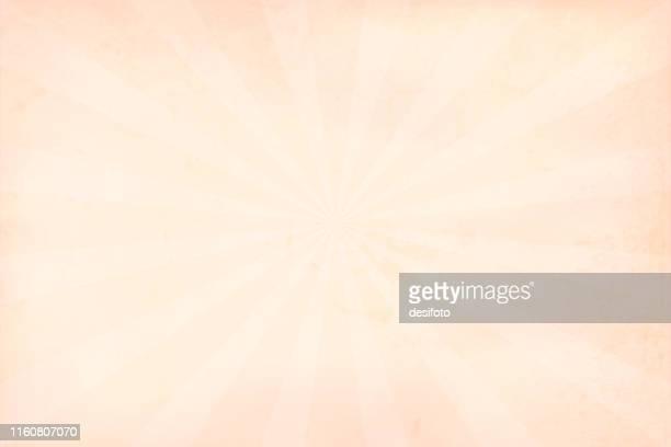 Beige, very light brown sunburst - vector background - Illustration