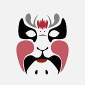 Beijing opera mask  of ancient people , vector