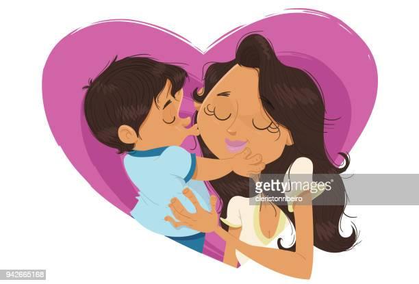 O beijo na mamãe!