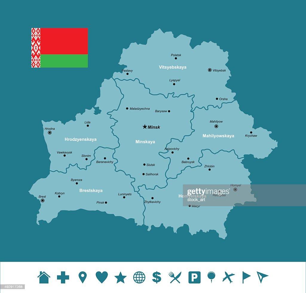 Belarus Infographic Map Vector Art Getty Images