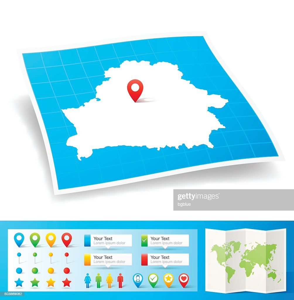 Belarus Country Map Vector Art Getty Images