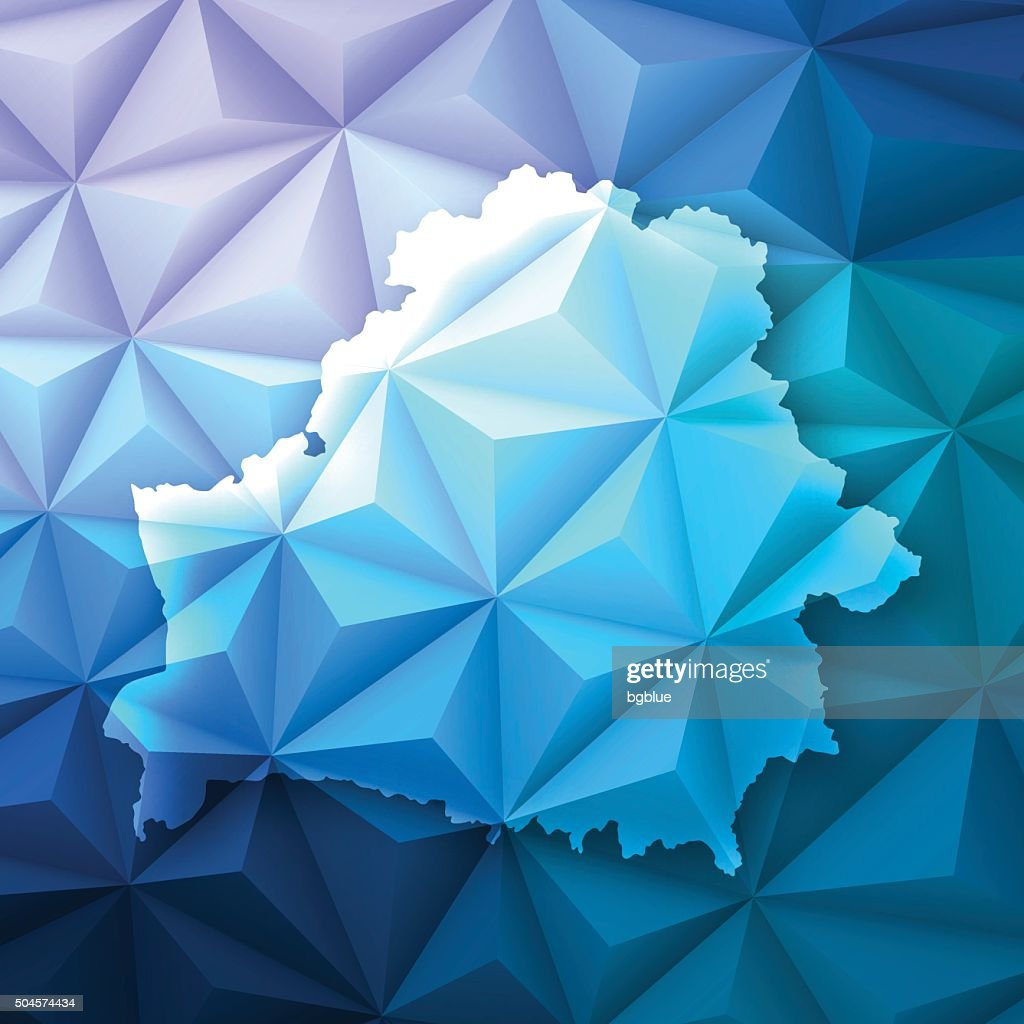 Belarus on Abstract Polygonal Background - Low Poly, Geometric : stock illustration