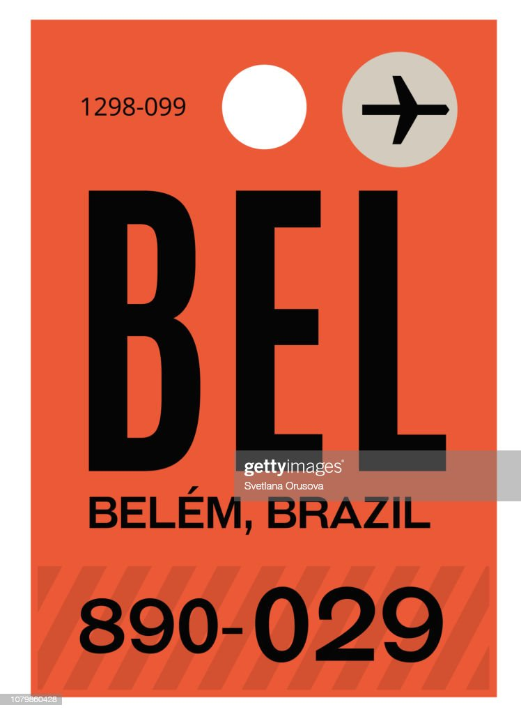 Belem airport luggage tag