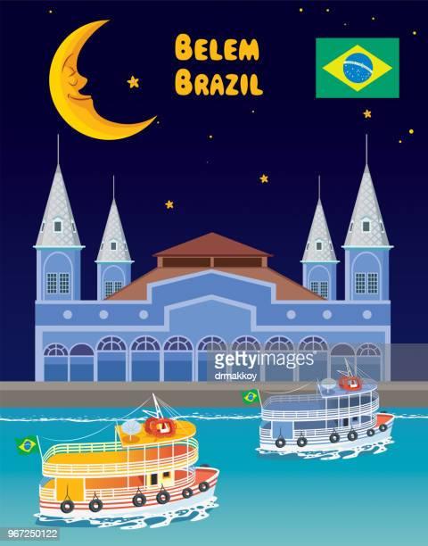 belem, brazil - para state stock illustrations