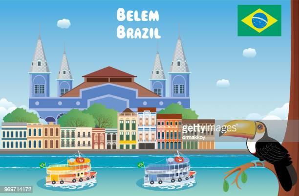 belem brazil - para state stock illustrations