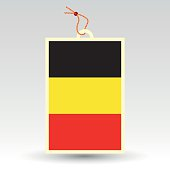 belgian flag made in tag