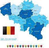 Belgium Blue Map