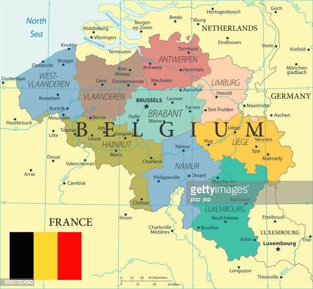 ilustrações de stock, clip art, desenhos animados e ícones de 28 - belgium - color2 10 - flandres oriental