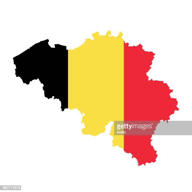 belgium flag map - traditionally belgian stock illustrations