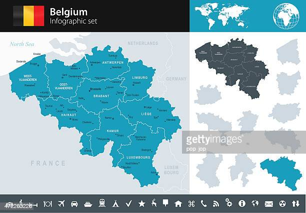 stockillustraties, clipart, cartoons en iconen met belgium - infographic map - illustration - antwerpen stad