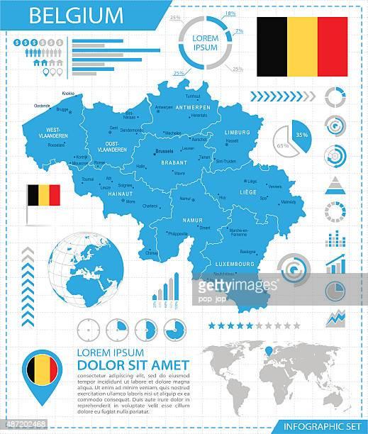 Belgium - infographic map - Illustration