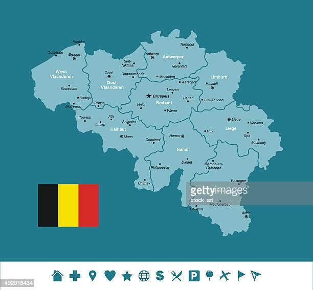 belgium infographic map
