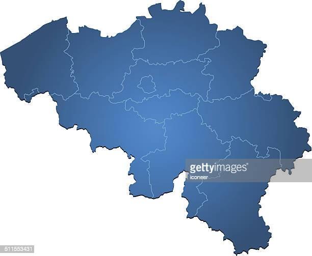 Belgium map blue