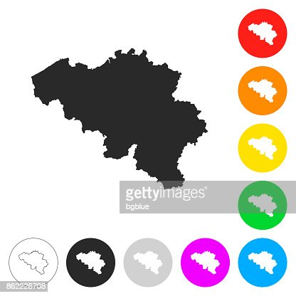 Belgium map flat icons on different color buttons vector art belgium map flat icons on different color buttons vector art getty images gumiabroncs Gallery