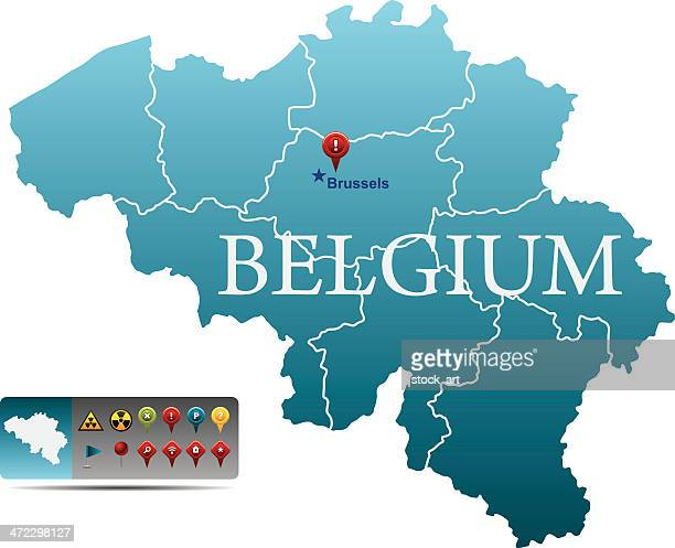 Belgium map with navigation icons