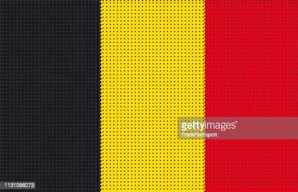 Belgien pixelte Vektorflagge