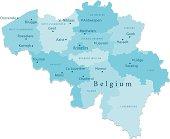 Belgium Vector Map Regions Isolated