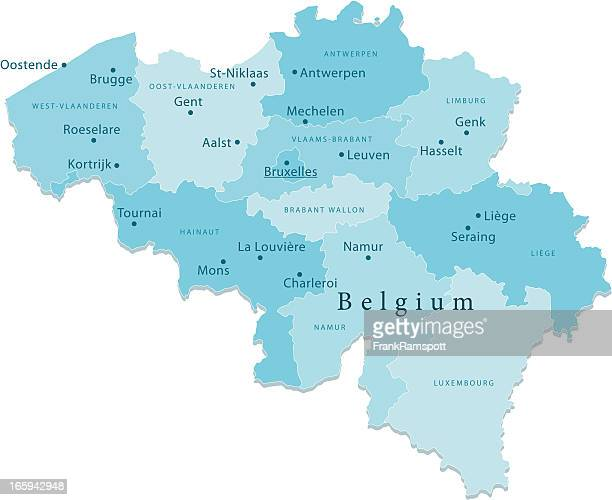 Belgium Vector Map Regions Isolated