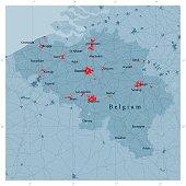 Belgium Vector Road Map