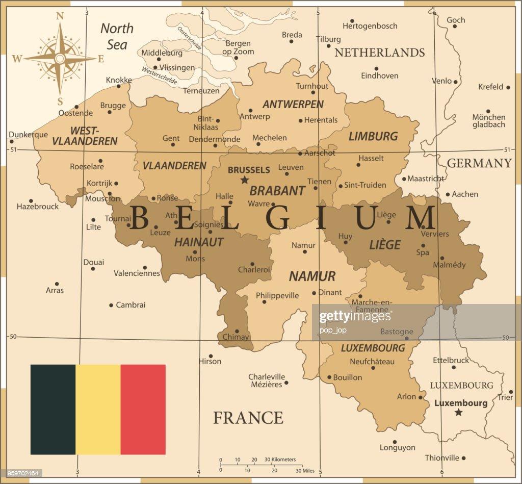 25 - Belgien - Vintage Golden 10 : Stock-Illustration
