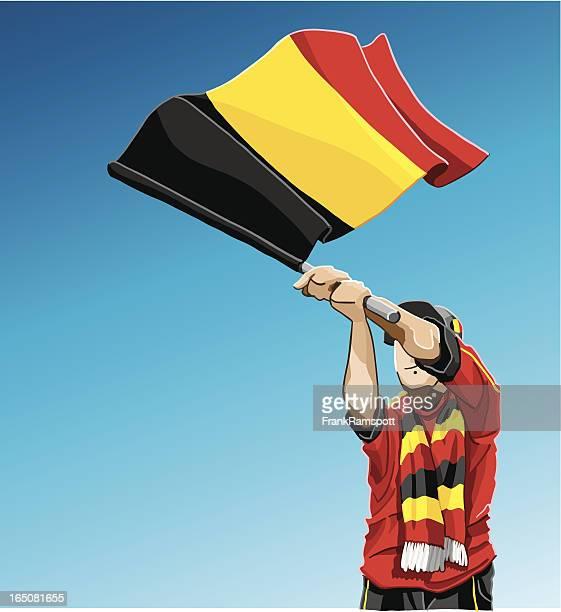 Belgium Waving Flag Soccer Fan