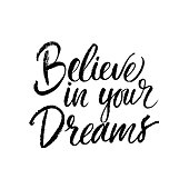 Believe in your dreams card.