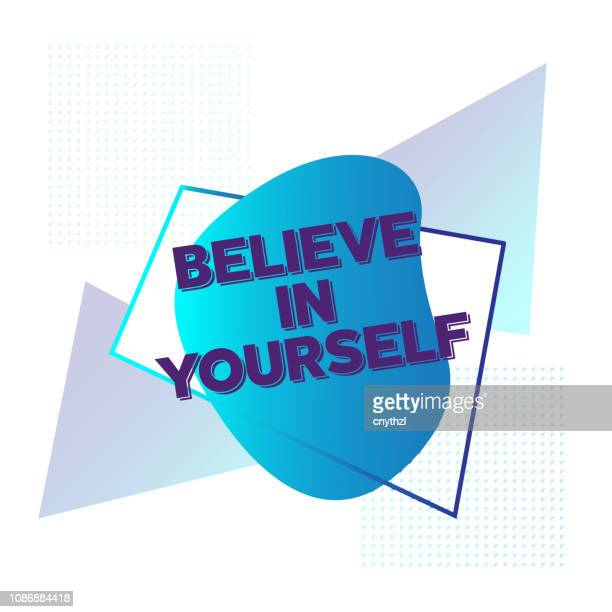 Believe in Yourself. Inspiring Creative Motivation Quote Poster Template. Vector Typography - Illustration