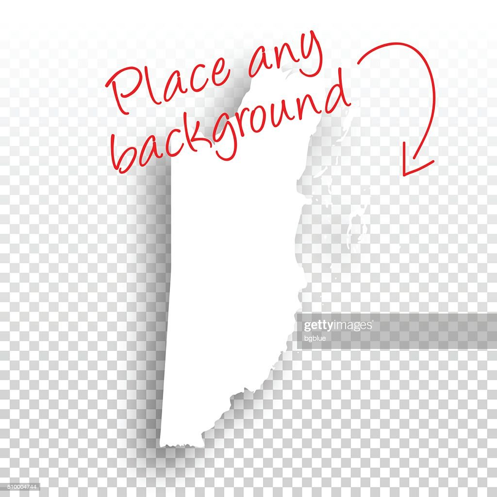 Belize Map For Design Blank Background stock vector | Getty Images