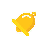 Bell Flat Icon. Pixel Perfect. For Mobile and Web.