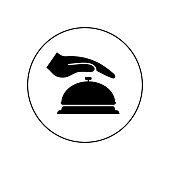 Bell icon, Alarm sign Isolated on white background.