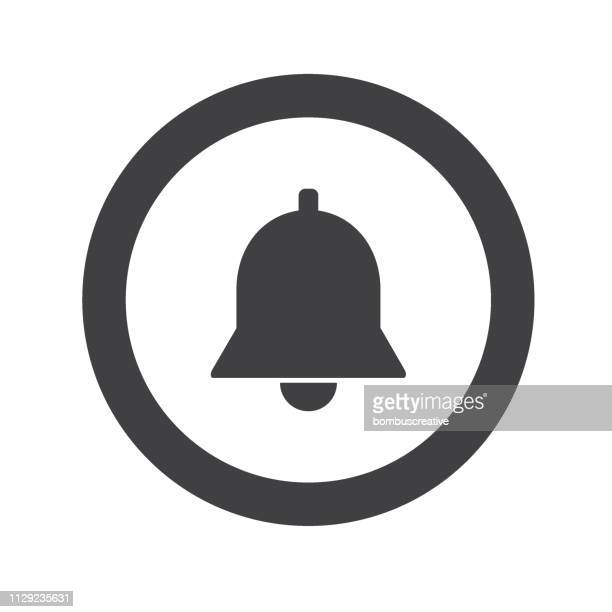 bell icon - bell stock illustrations