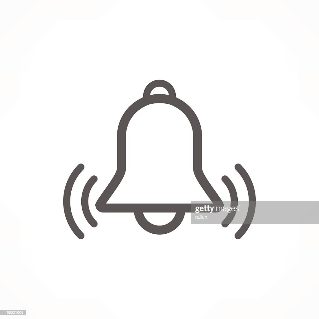 A bell icon with sound waves vibrating out