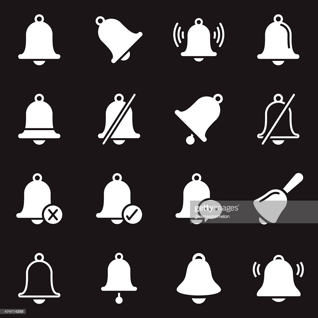 Bell Icons | White Series