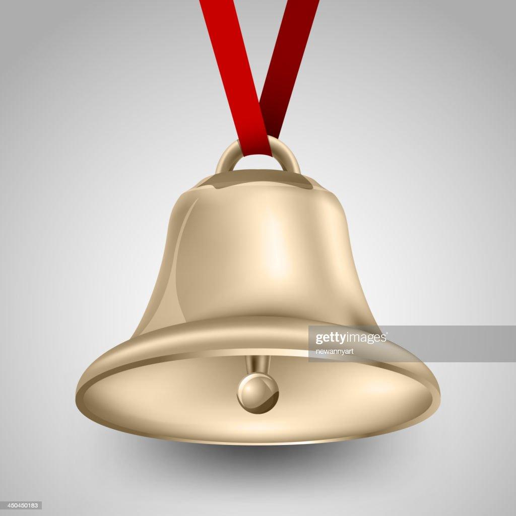 bell metallic gold