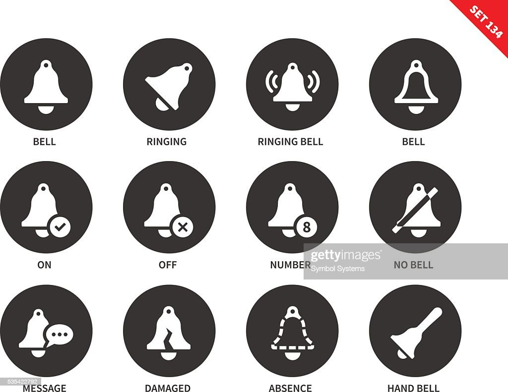 Bells icons on white background