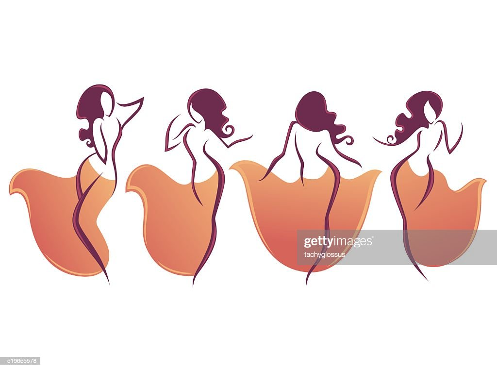 belly dance vector collection of dancing girls..