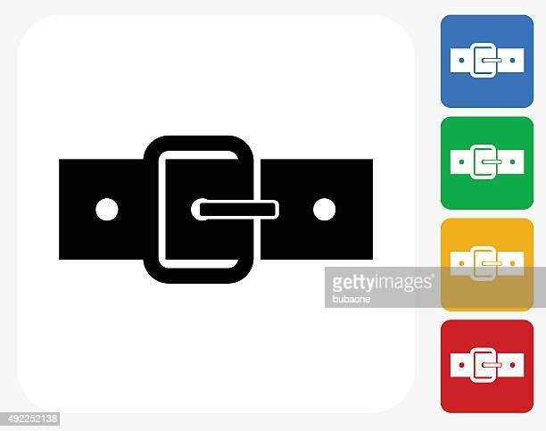 Belt Icon Flat Graphic Design