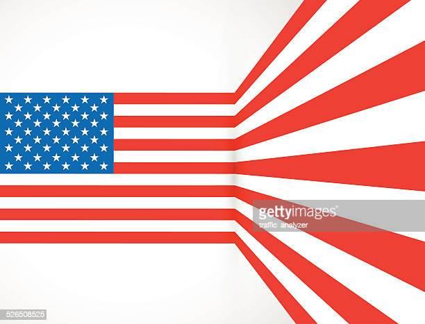 Bent Amerikanische Flagge