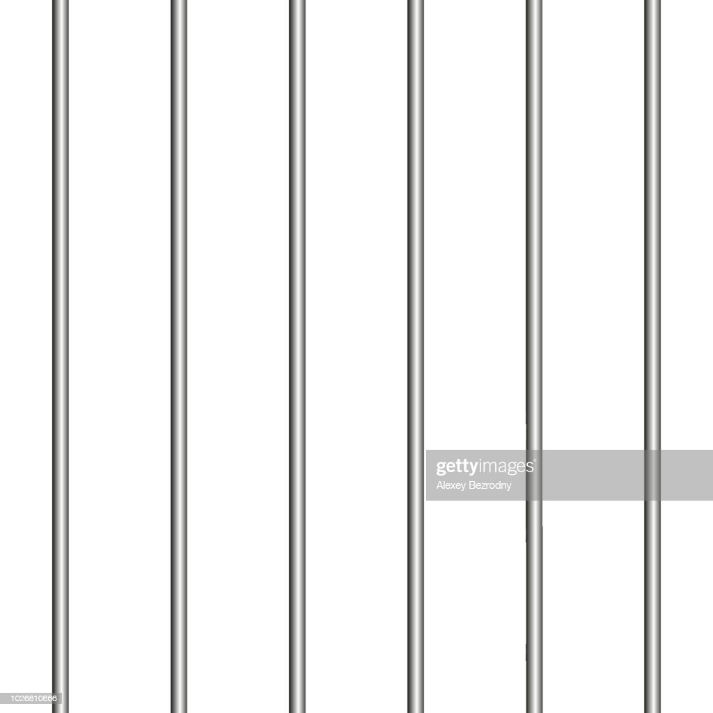 bent jail isolated vector