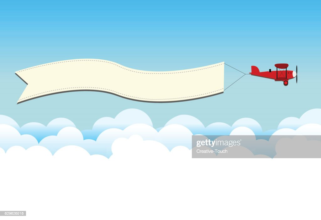 Beplane on the sky : stock illustration