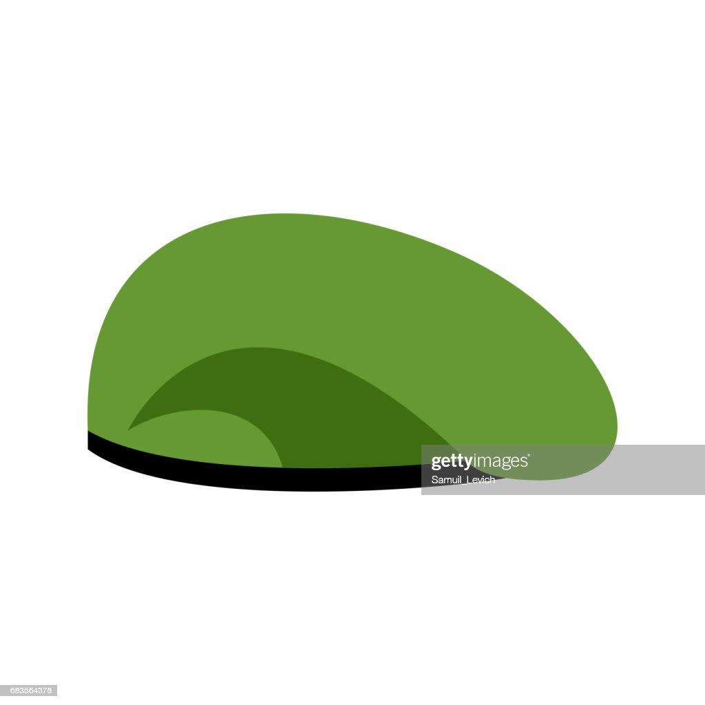 5154bc7cb30 Beret military Green. Soldiers cap. army hat. War barret   vectorkunst