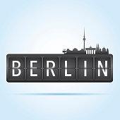 Berlin departure board
