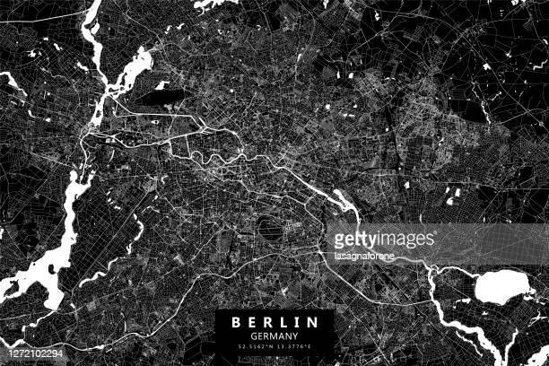 berlin, germany vector map - berlin stock illustrations