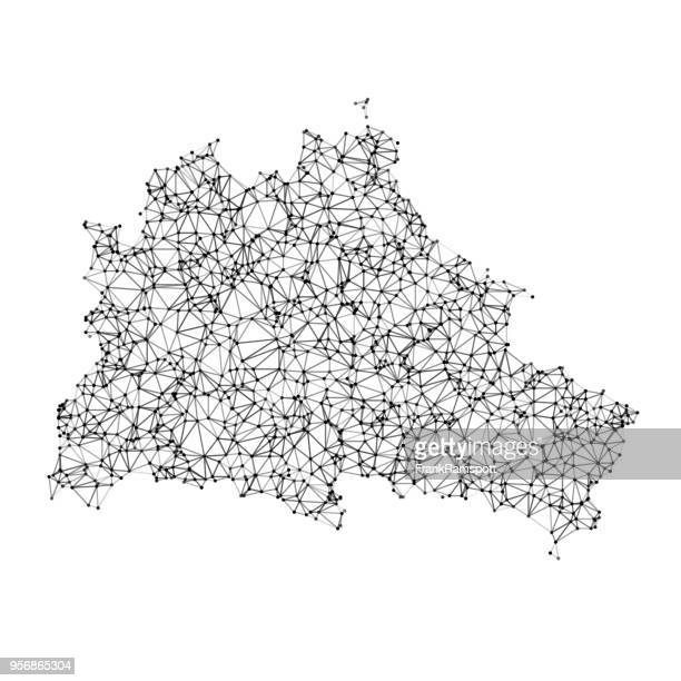 Berlin Map Network Black And White